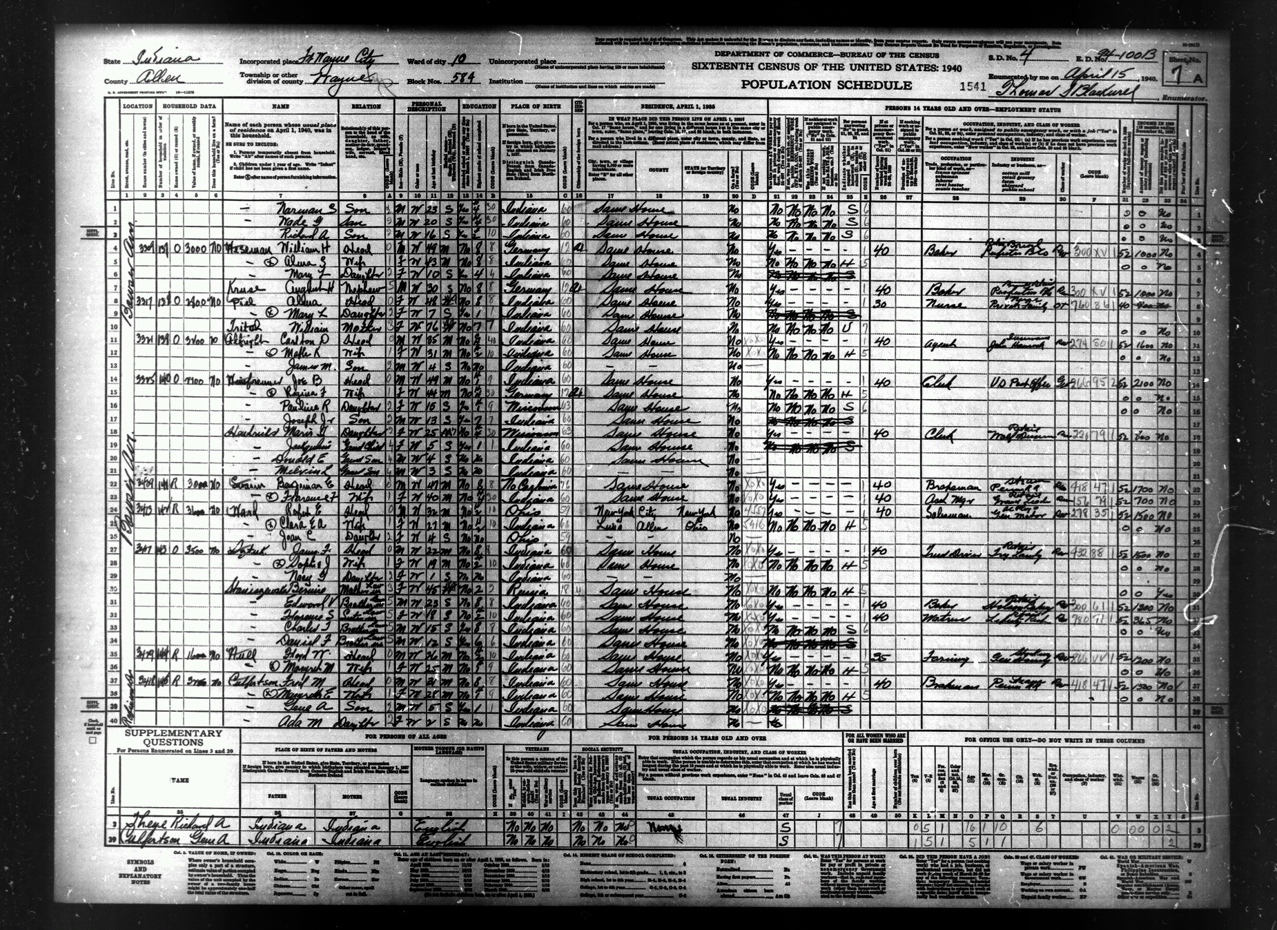 Genealogical Society Whitley County Indiana Genealogical ...