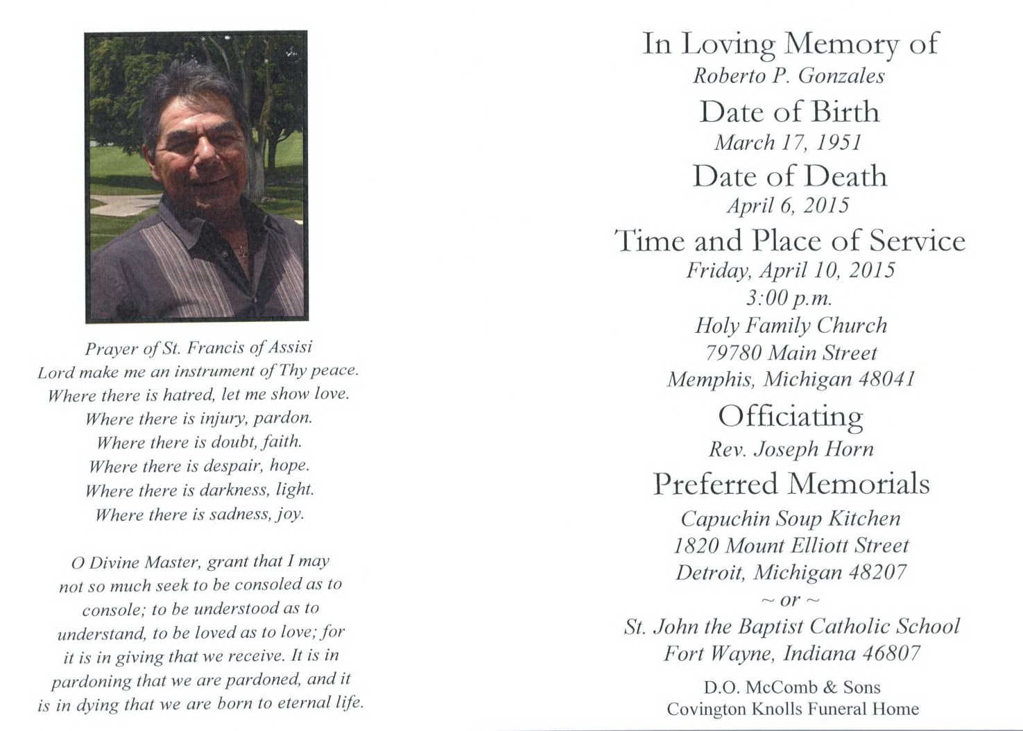 ACGSI - Funeral Card Collection