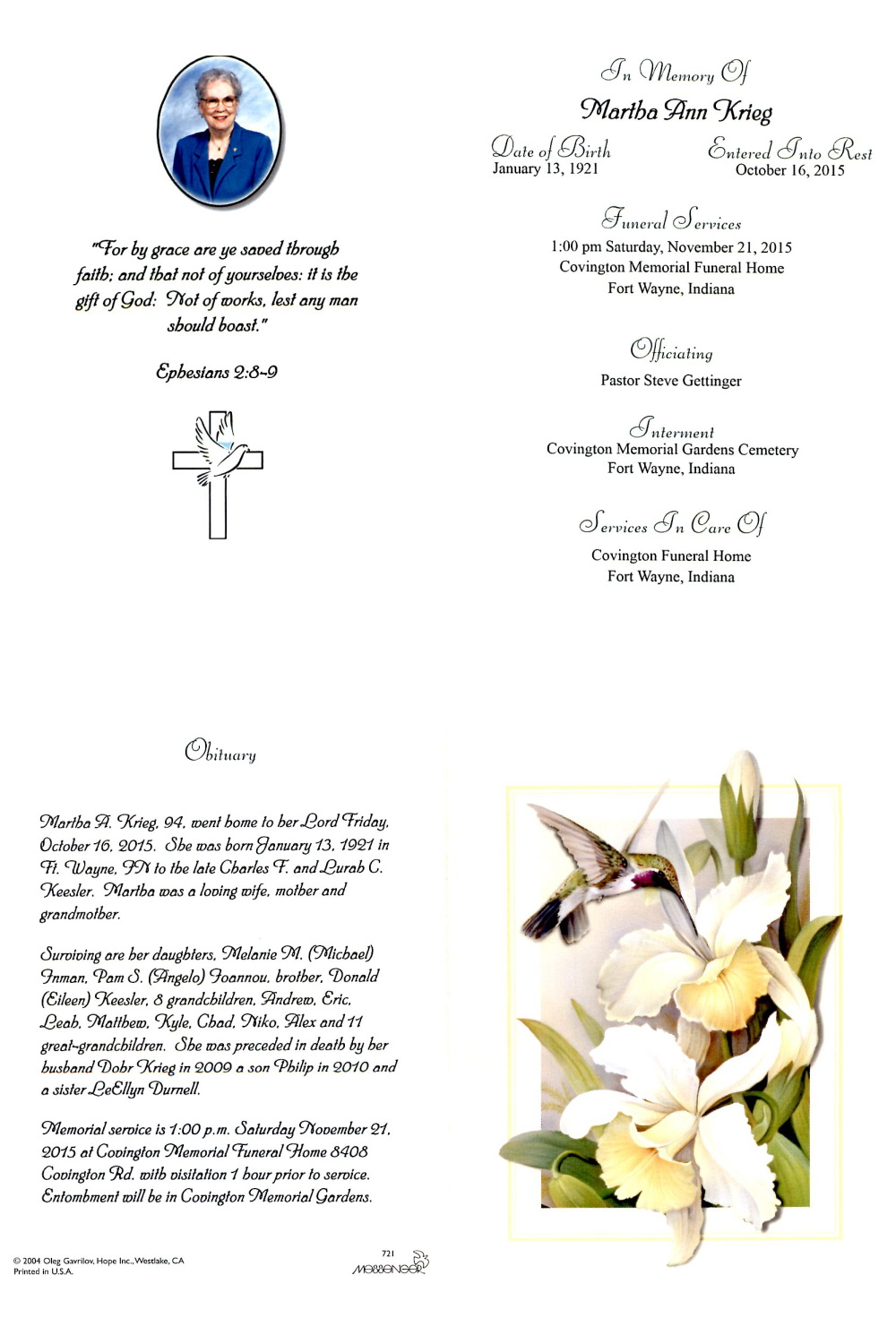 Acgsi funeral card collection dhlflorist Image collections