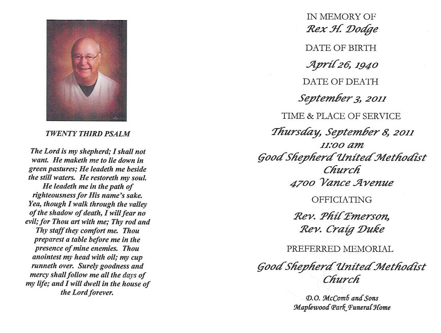 Good shepherd funeral home rome ga - Craig Duke Good Shepherd U M C