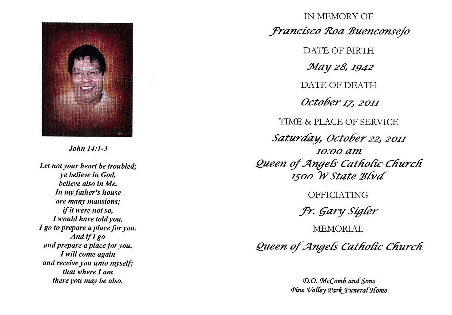 ACGSI Funeral Card Collection – Catholic Funeral Program