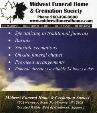 Midwest Funeral Home & Cremation Society ad