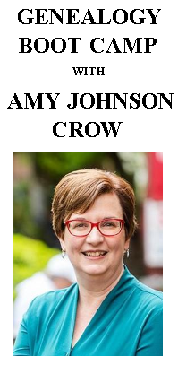 Genealogy Boot Camp with Amy Johnson Crow
