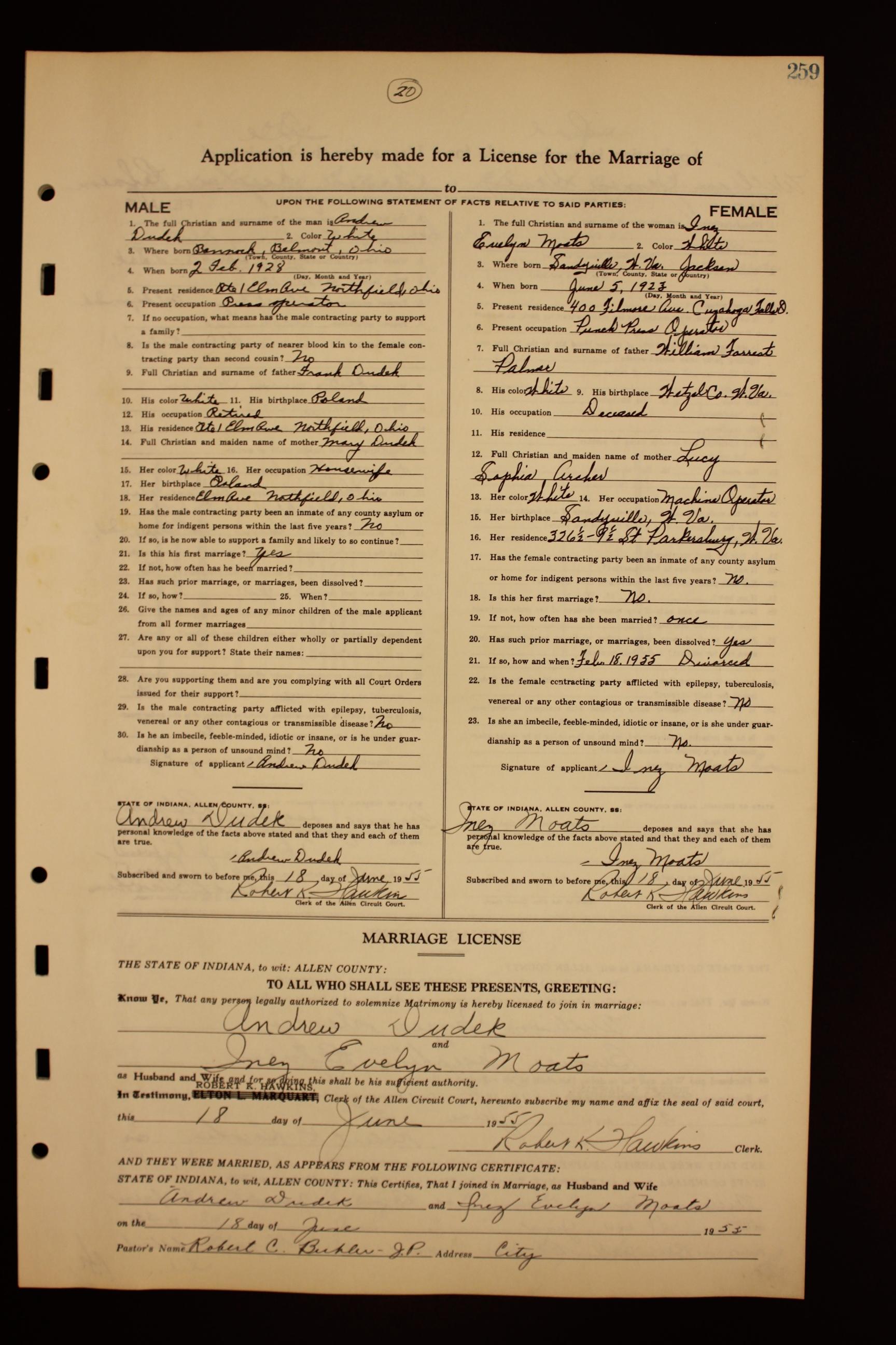 ACGSI - Allen County Marriages